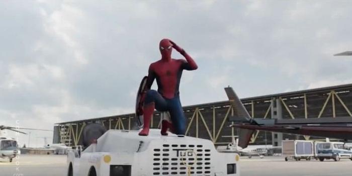 Spider-Man salutes Cap in new Civil War commercial!