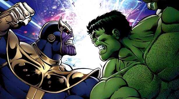 Thanos and Hulk. Source: Marvel Comics
