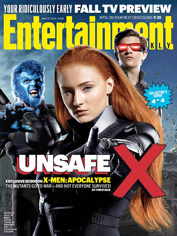 X-Men: Apocalypse-themed cover featuring Beast, Jean Grey and Cyclops!