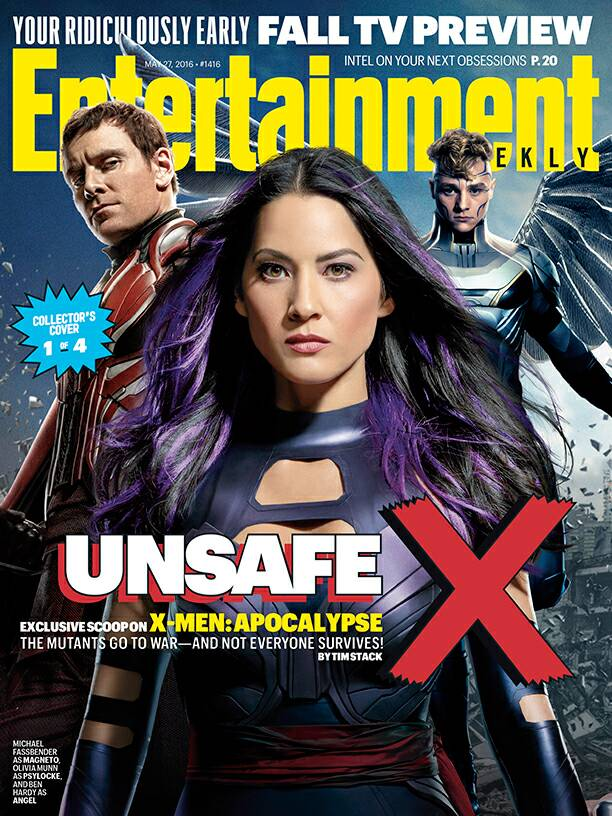 X-Men: Apocalypse-themed cover featuring Magneto, Pyslocke and Angel!