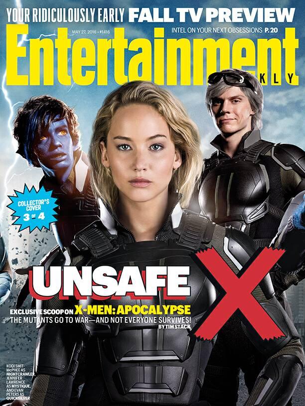 X-Men: Apocalypse-themed cover featuring Nightcrawler, Mystique and Quicksilver!