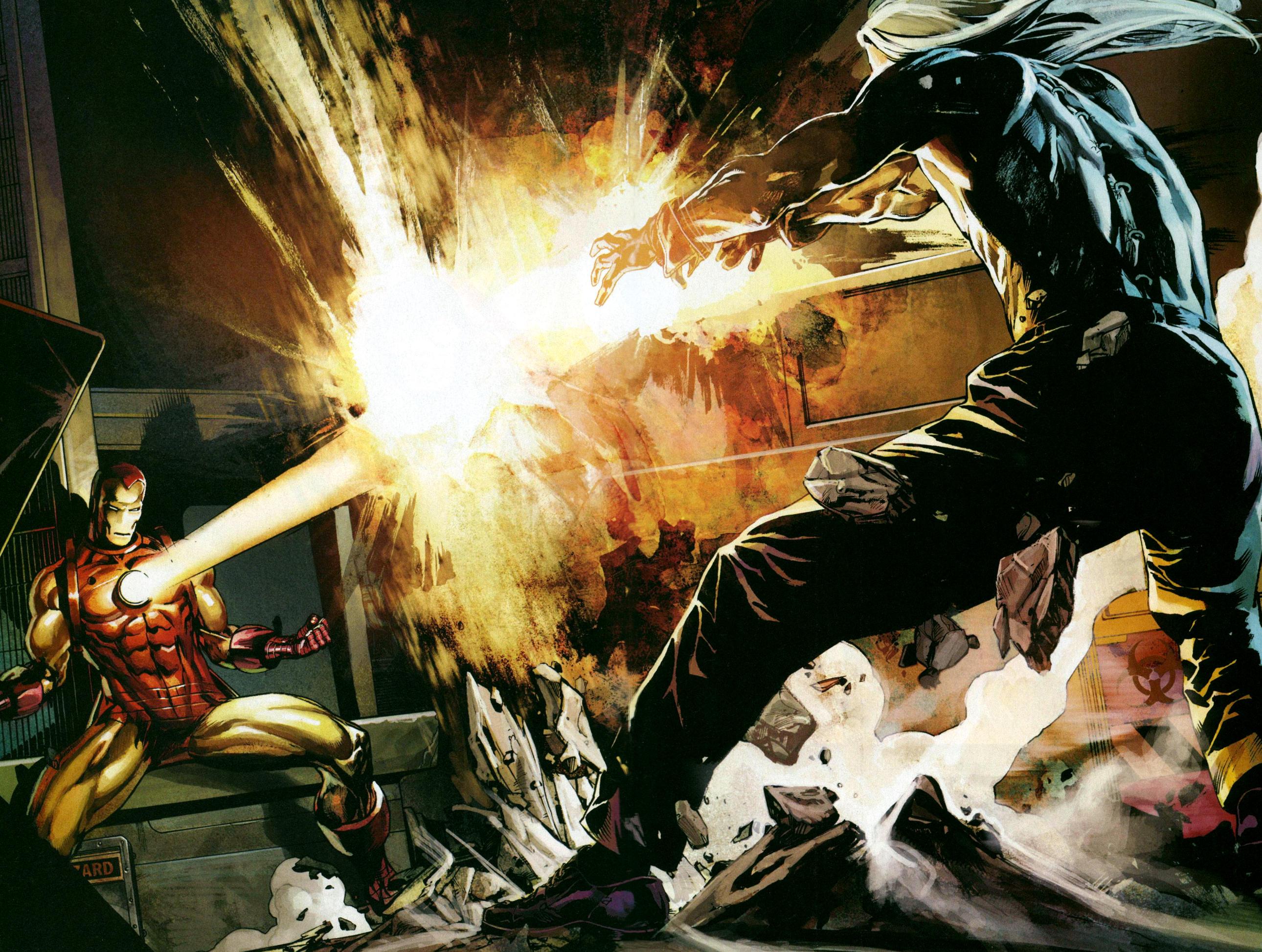 Iron Man vs. the Mandarin (Wallpoper)