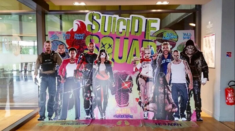 The new Suicide Squad standee!