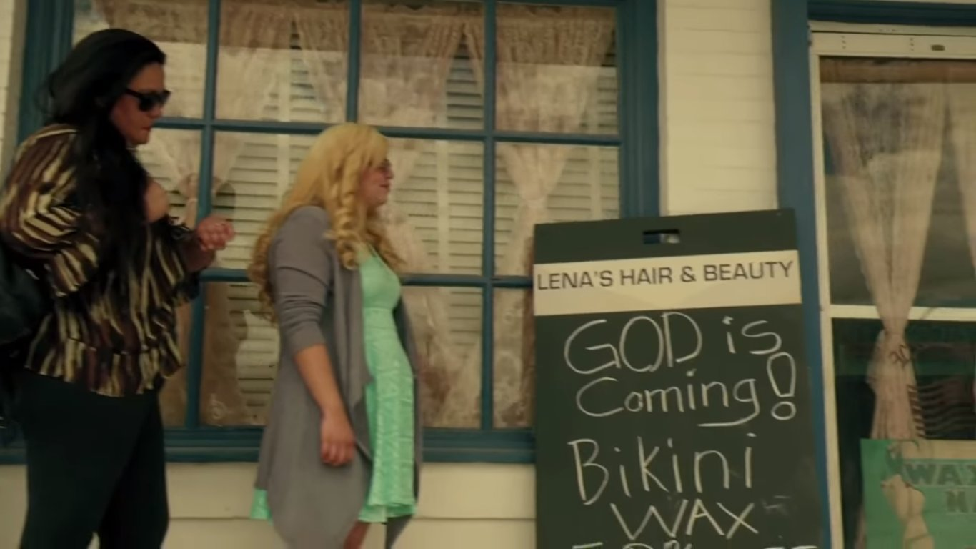 God is coming and bikini wax - seems legit (Preacher)