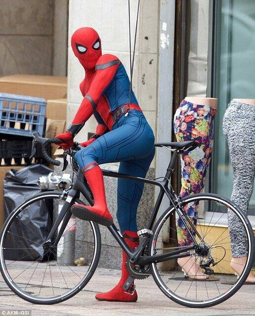Spidey on a bike - that's awesome!