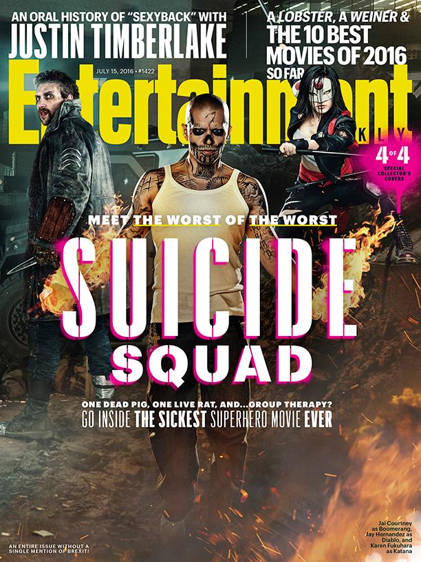 Suicide Squad cover featuring Boomerang, El Diablo and Katana!