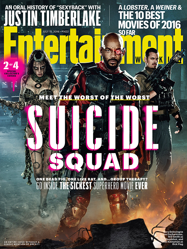 Suicide Squad cover featuring Enchantress, Deadshot and Rick Flag!