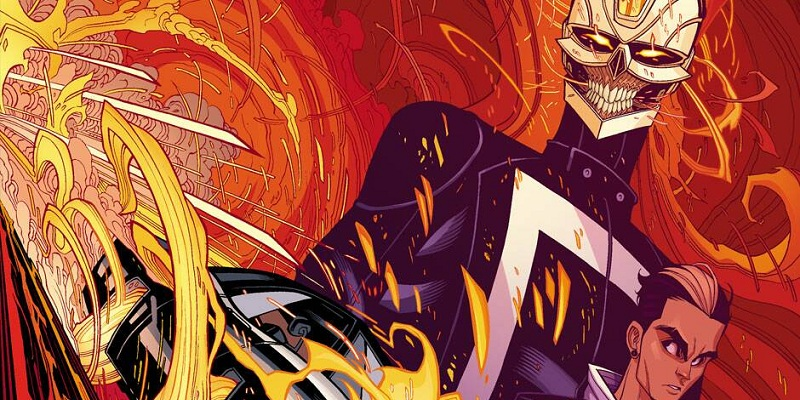 These characters bear a close resemblance to Robbie and Gabe Reyes of All-New Ghost Rider series!
