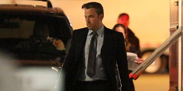 Ben Affleck dressed as Bruce Wayne on the set of Suicide Squad!