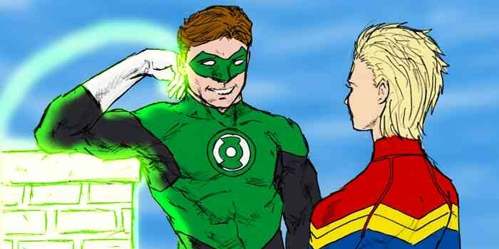 Green Lantern and Captain Marvel - they do have some similarities in their origin stories!