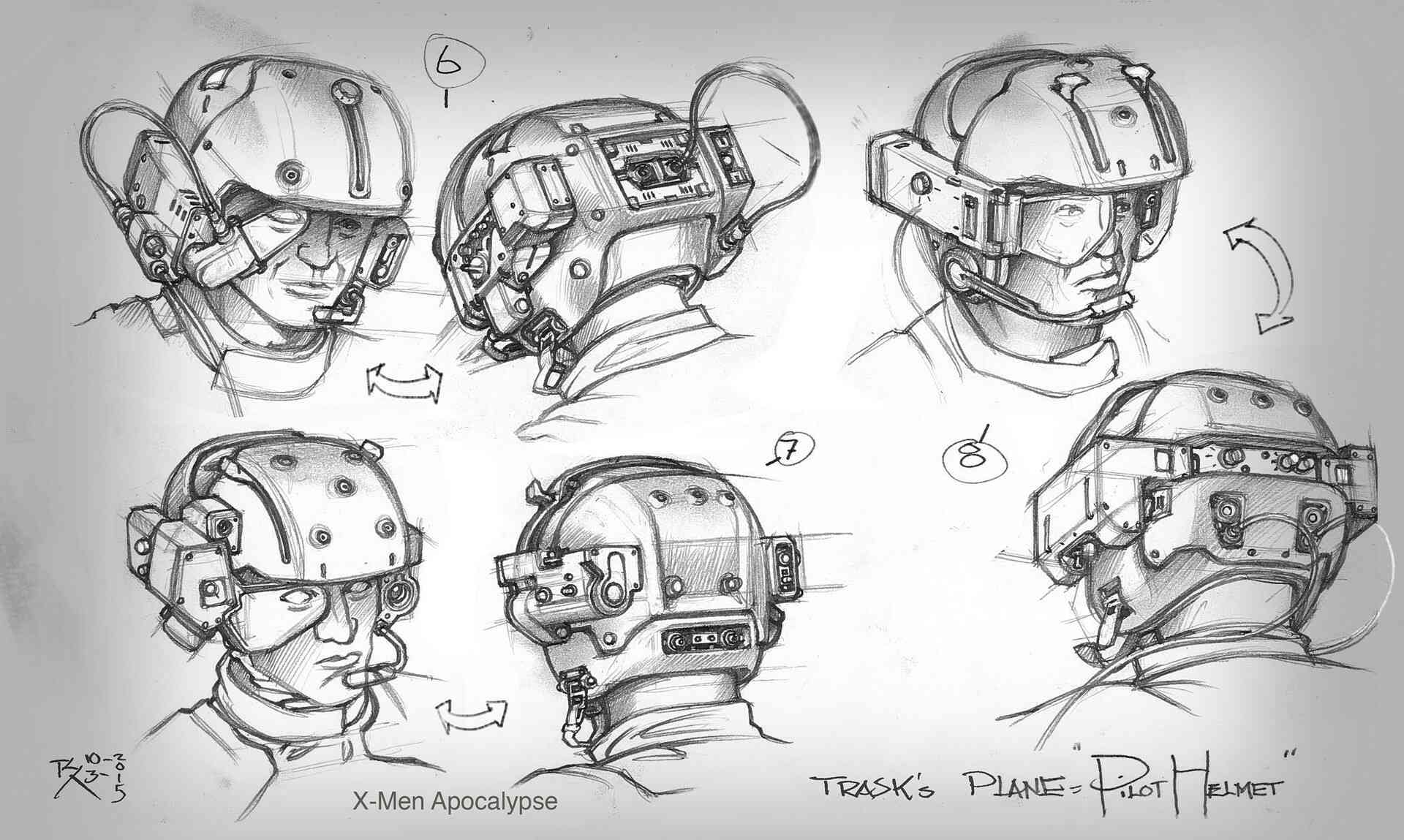 Pilot's helmet concept art 1