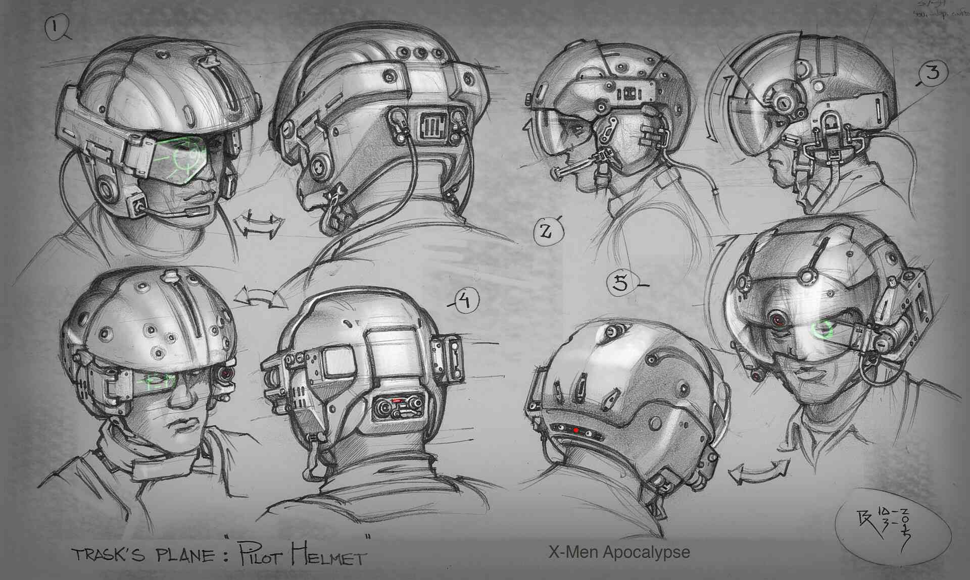 Pilot's helmet concept art 2