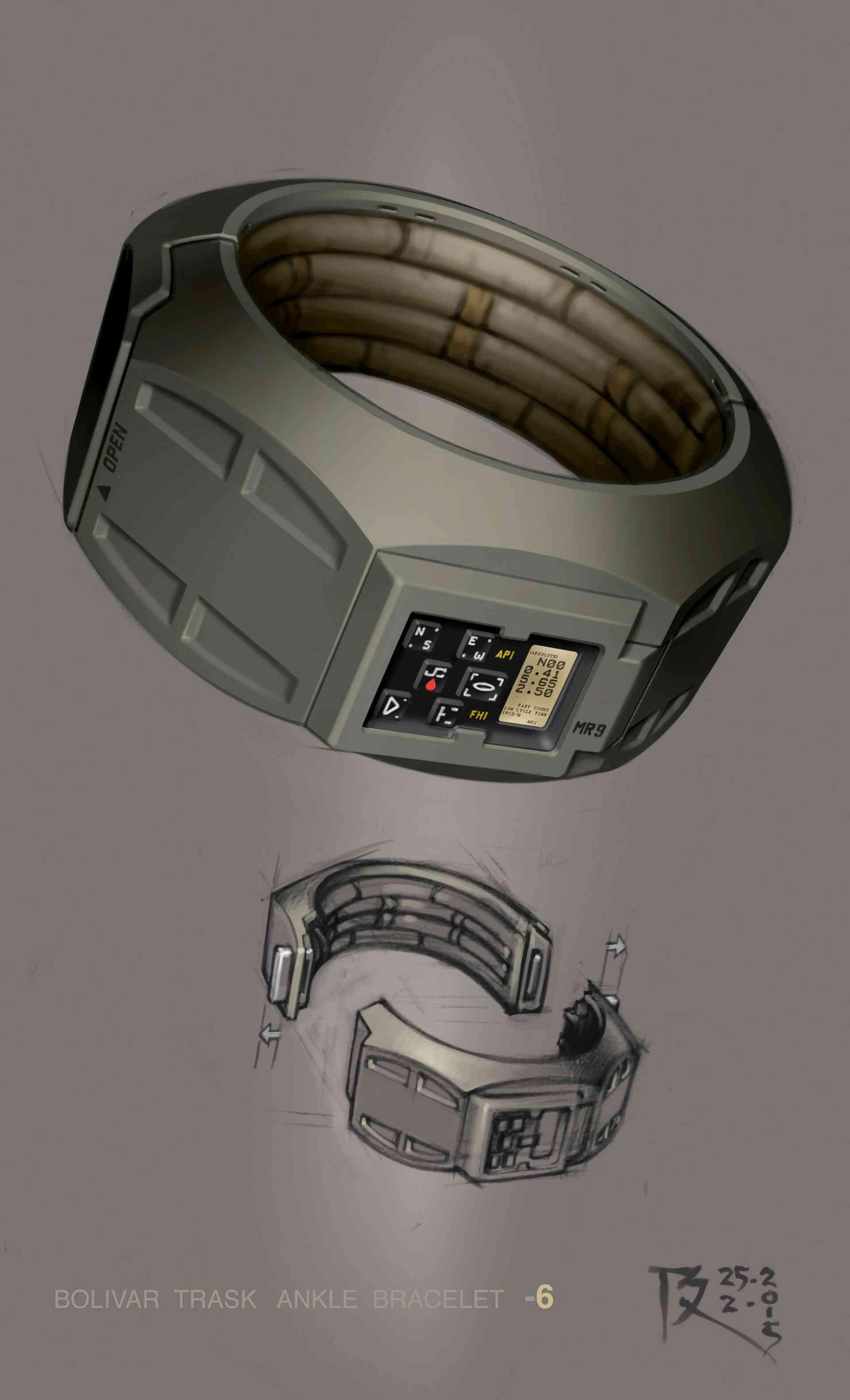 Trask's ankle bracelet concept art 2
