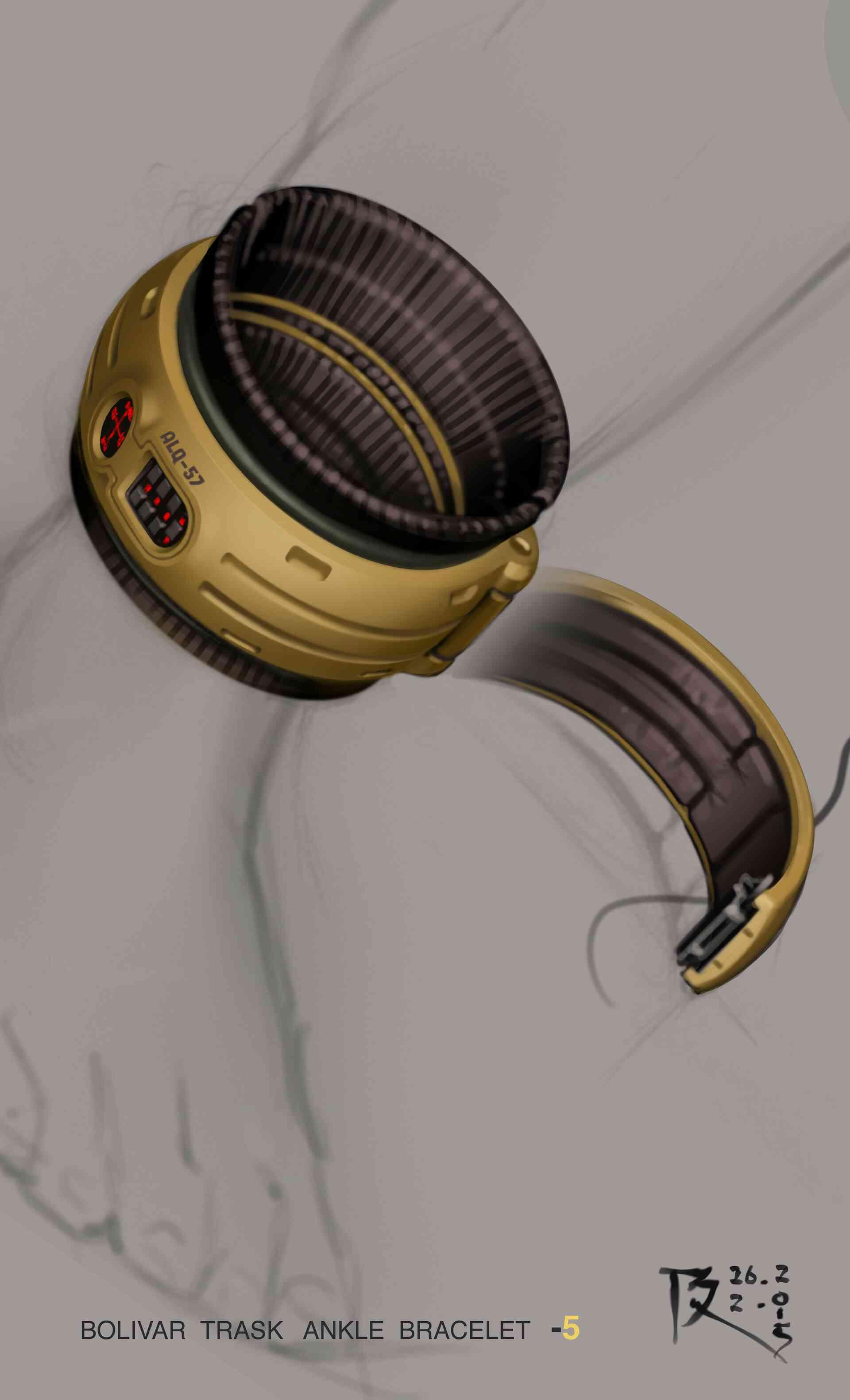 Trask's ankle bracelet concept art 3