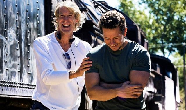 Michael Bay and Mark Wahlberg (Paramount)