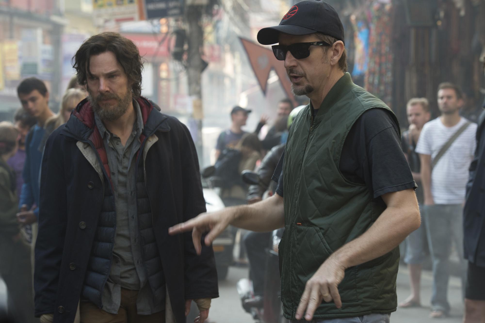Benedict Cumberbatch as Strange with director!