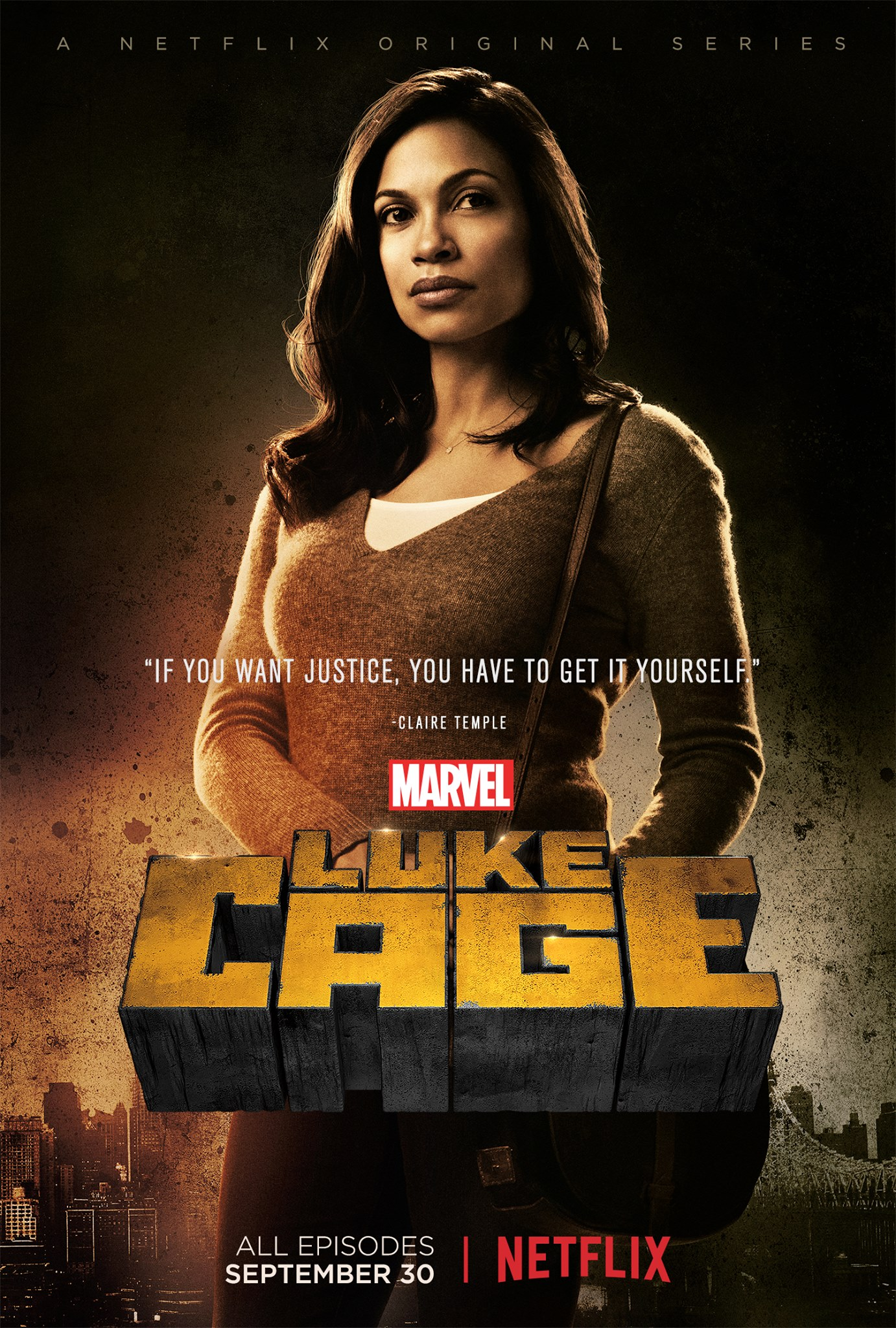 Character poster for Claire Temple in Marvel's Luke Cage!