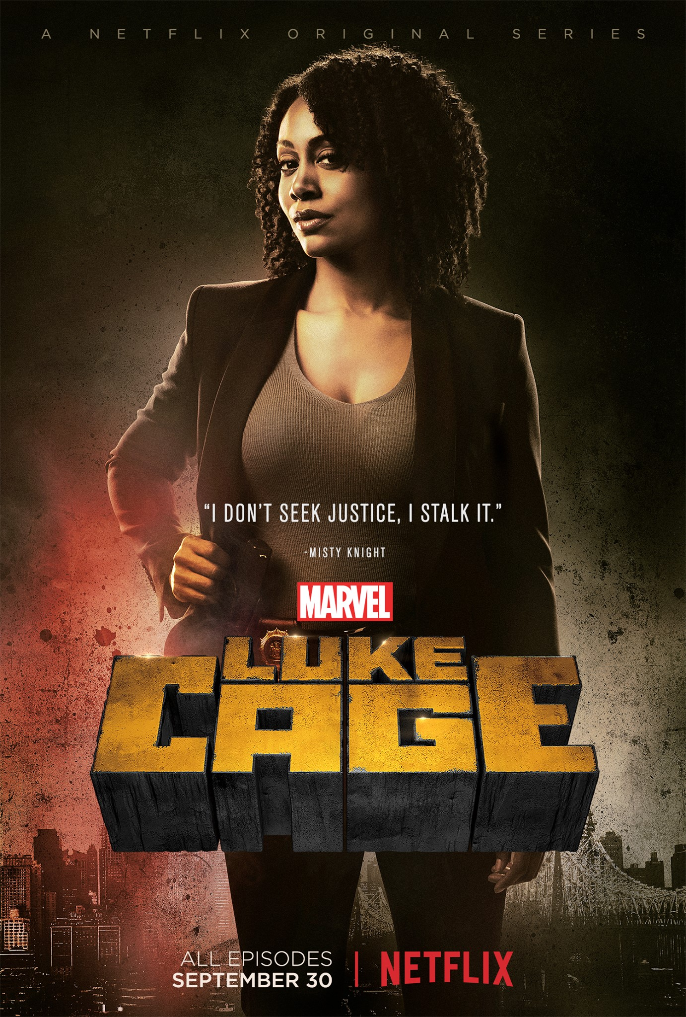 Character poster for Misty Knight in Marvel's Luke Cage!