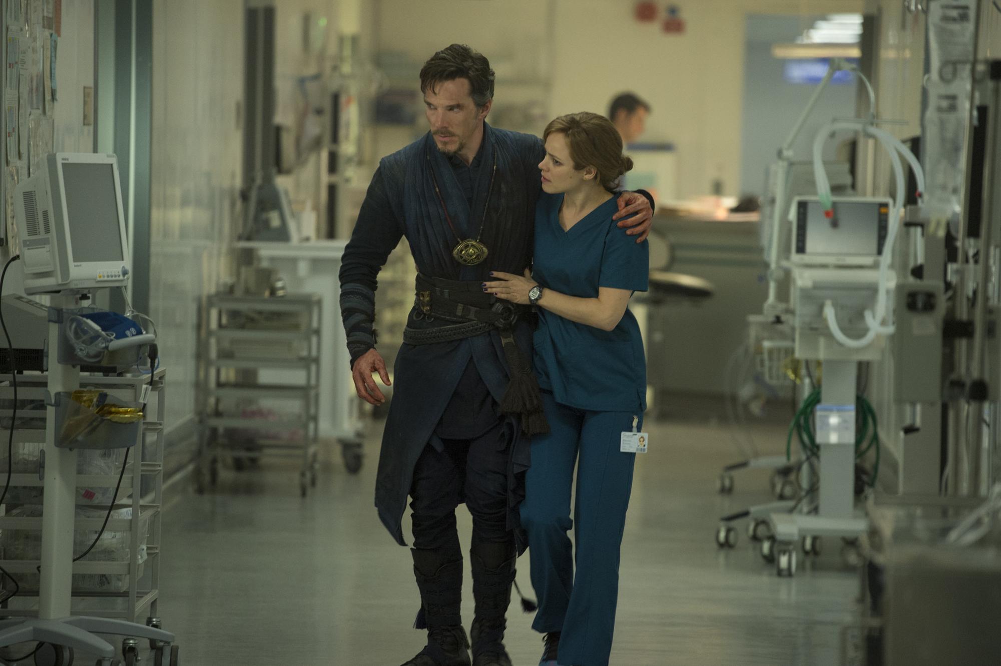 Doctor Strange and Christine Palmer!