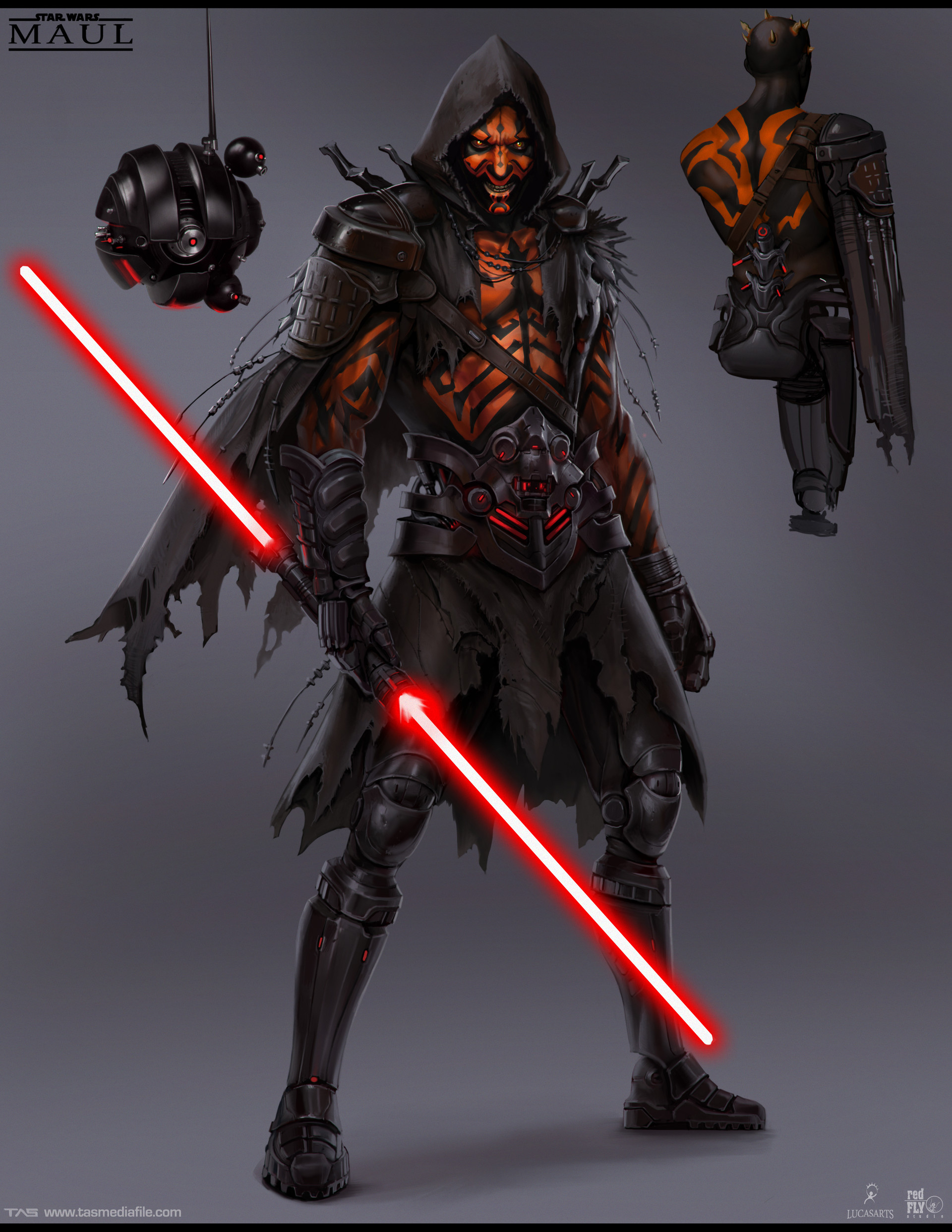 Battle of the Sith Lords concept art