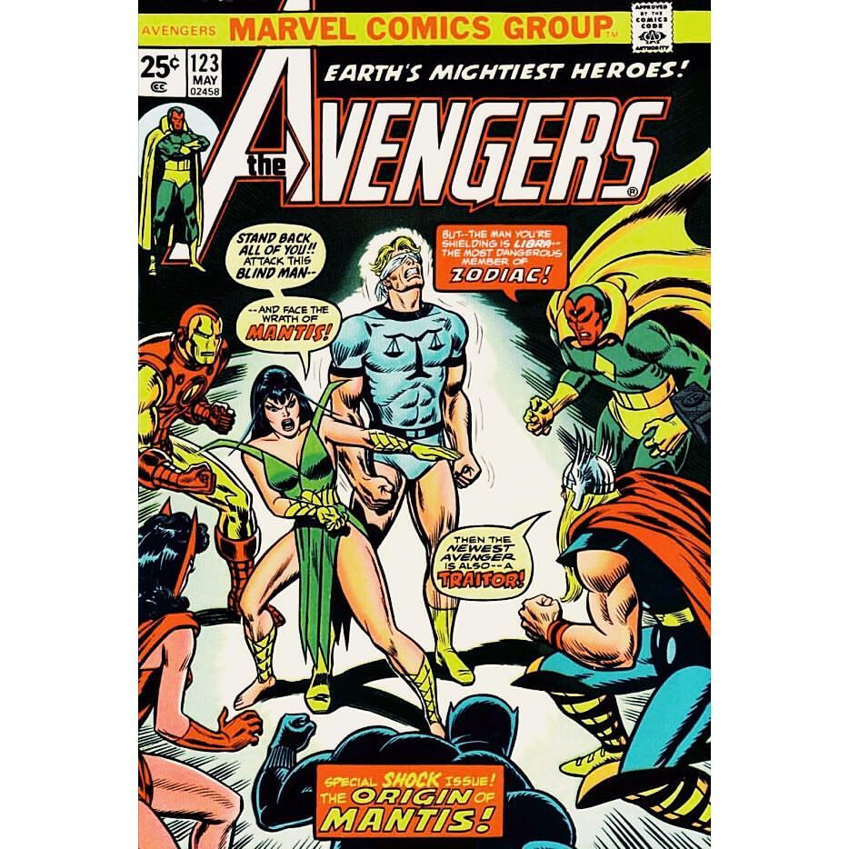 Image of Avengers #123 cover shared by Klementieff
