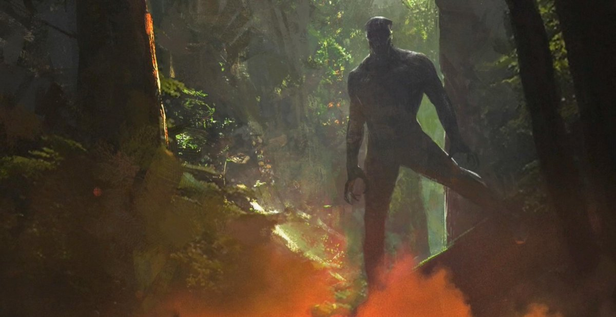 Artwork featuring the King of Wakanda in a jungle