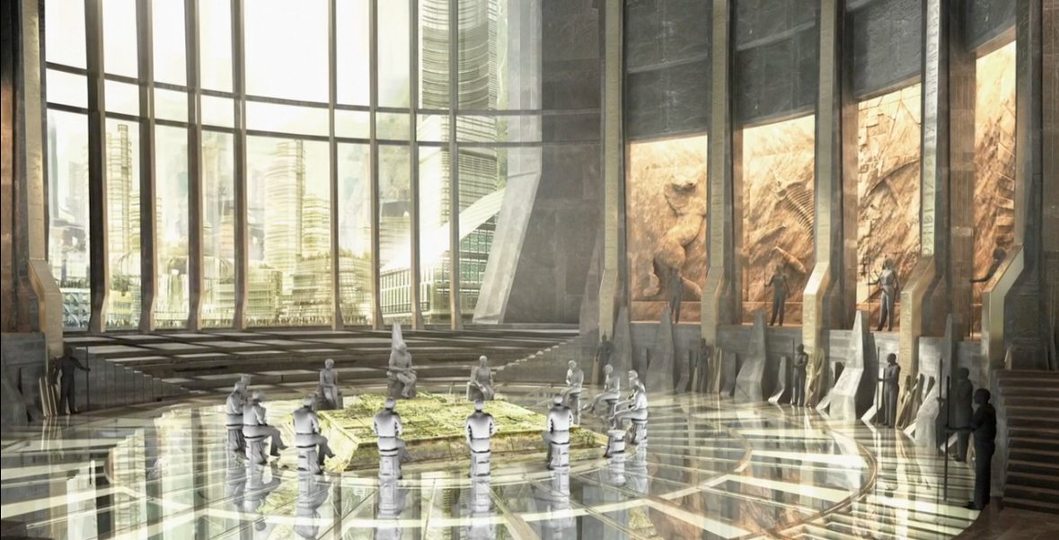 Concept art for a location in Black Panther