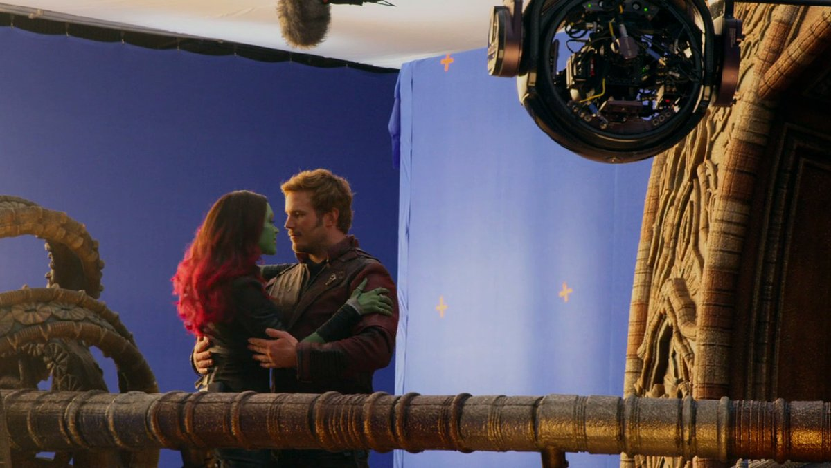 Gamora and Star-Lord getting close