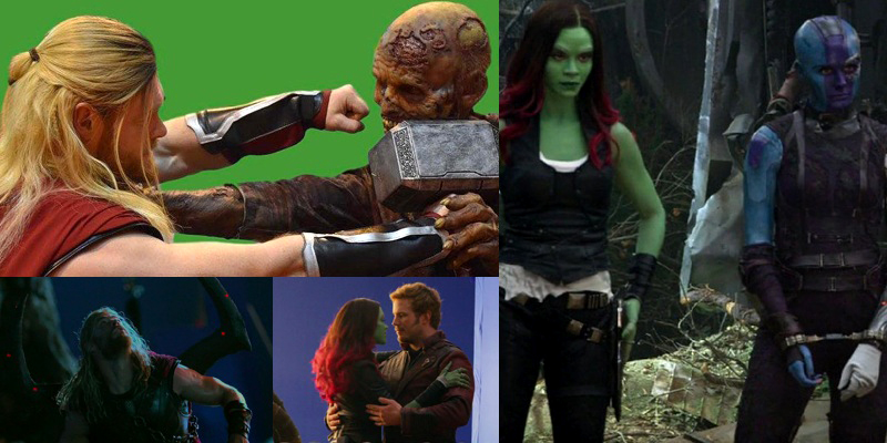 New behind-the-scenes photos from Thor: Ragnarok and Guardians of the Galaxy Vol. 2 have arrived!