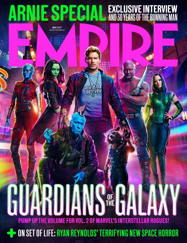 Empire's cover featuring the band of spacefaring antiheroes