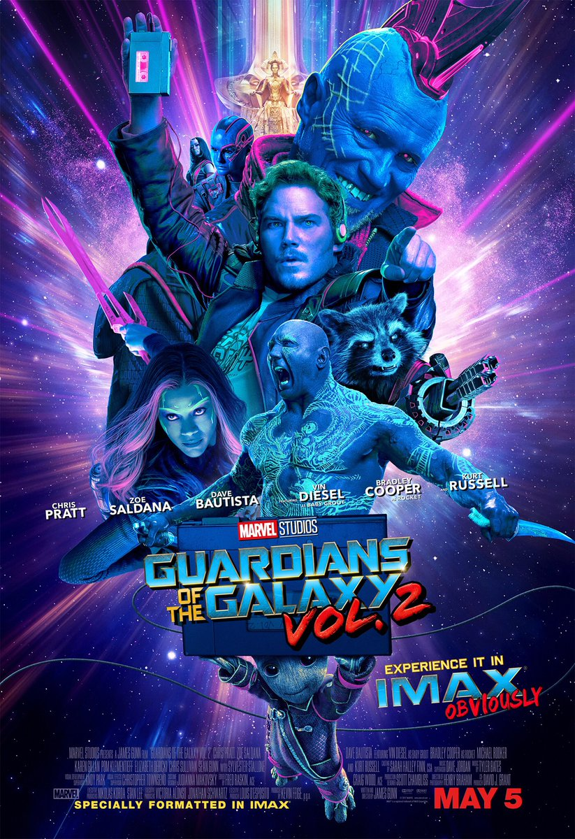 IMAX poster for Guardians of the Galaxy Vol. 2
