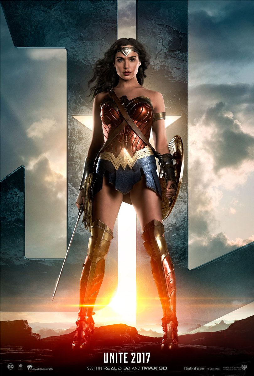 Justice League character poster for Gal Gadot's Wonder Woman