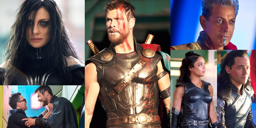 Official first look at Thor, Hela, Valkyrie and Grandmaster from Thor: Ragnarok revealed!