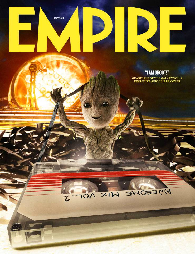 The magazine cover featuring Guardians of the Galaxy Vol. 2's Baby Groot!