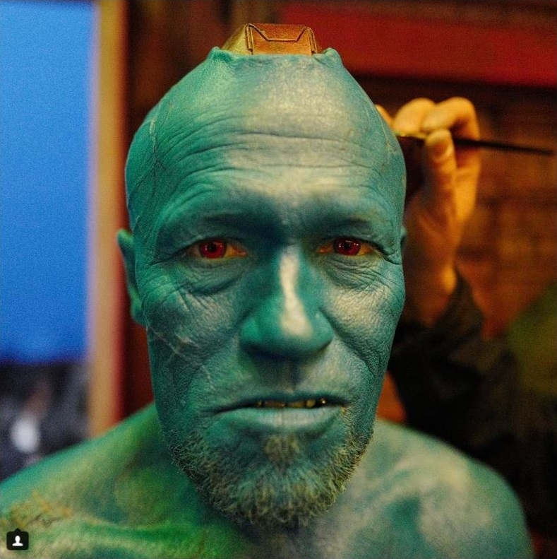 Another BTS photo featuring Rooker's Yondu
