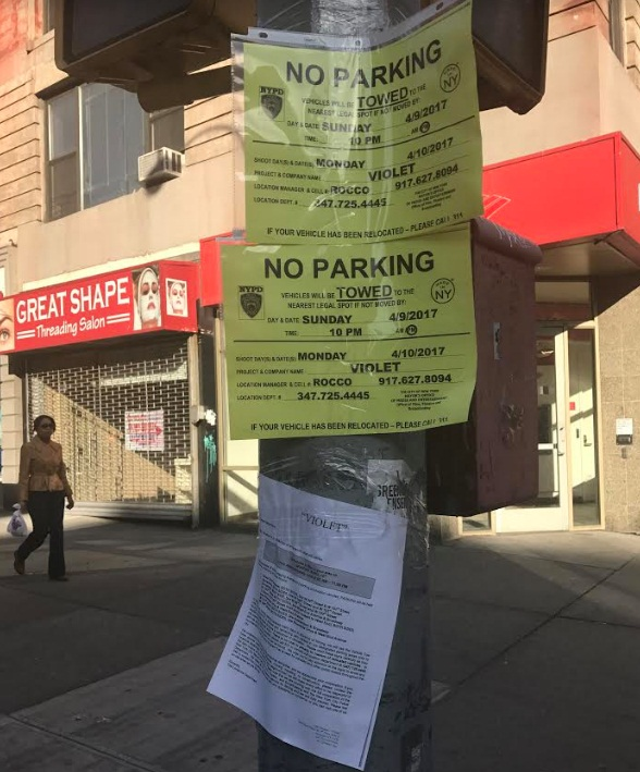Filming signs for Jessica Jones Season 2