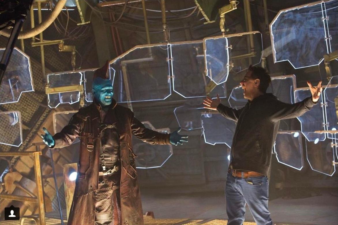Gunn with Michael Rooker
