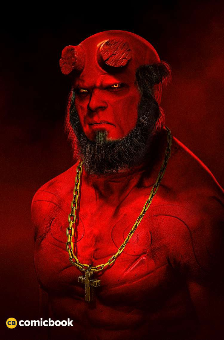 Fan-art featuring David Harbour as Hellboy