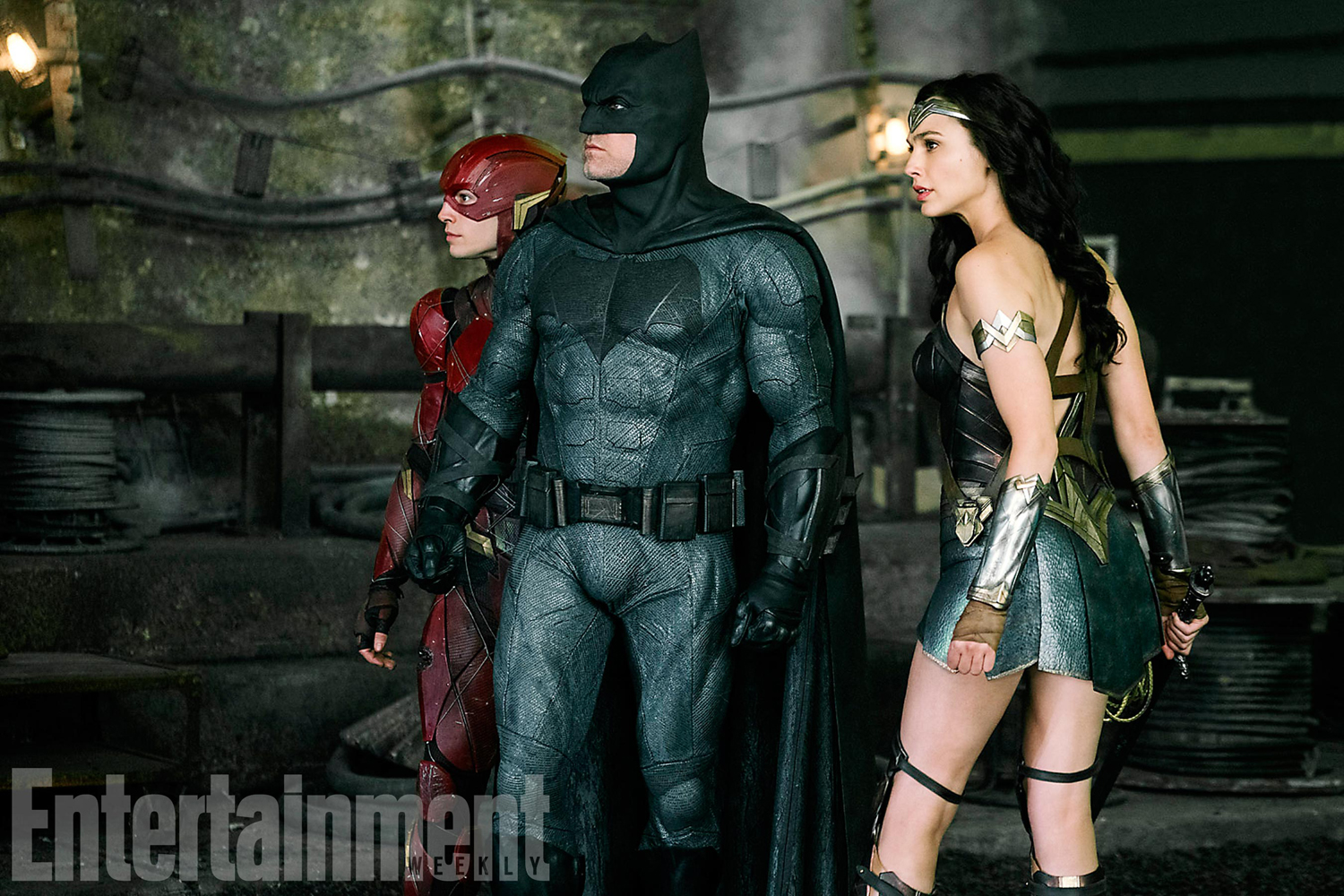 The new Justice League photo featuring Batman, Wonder Woman and the Flash