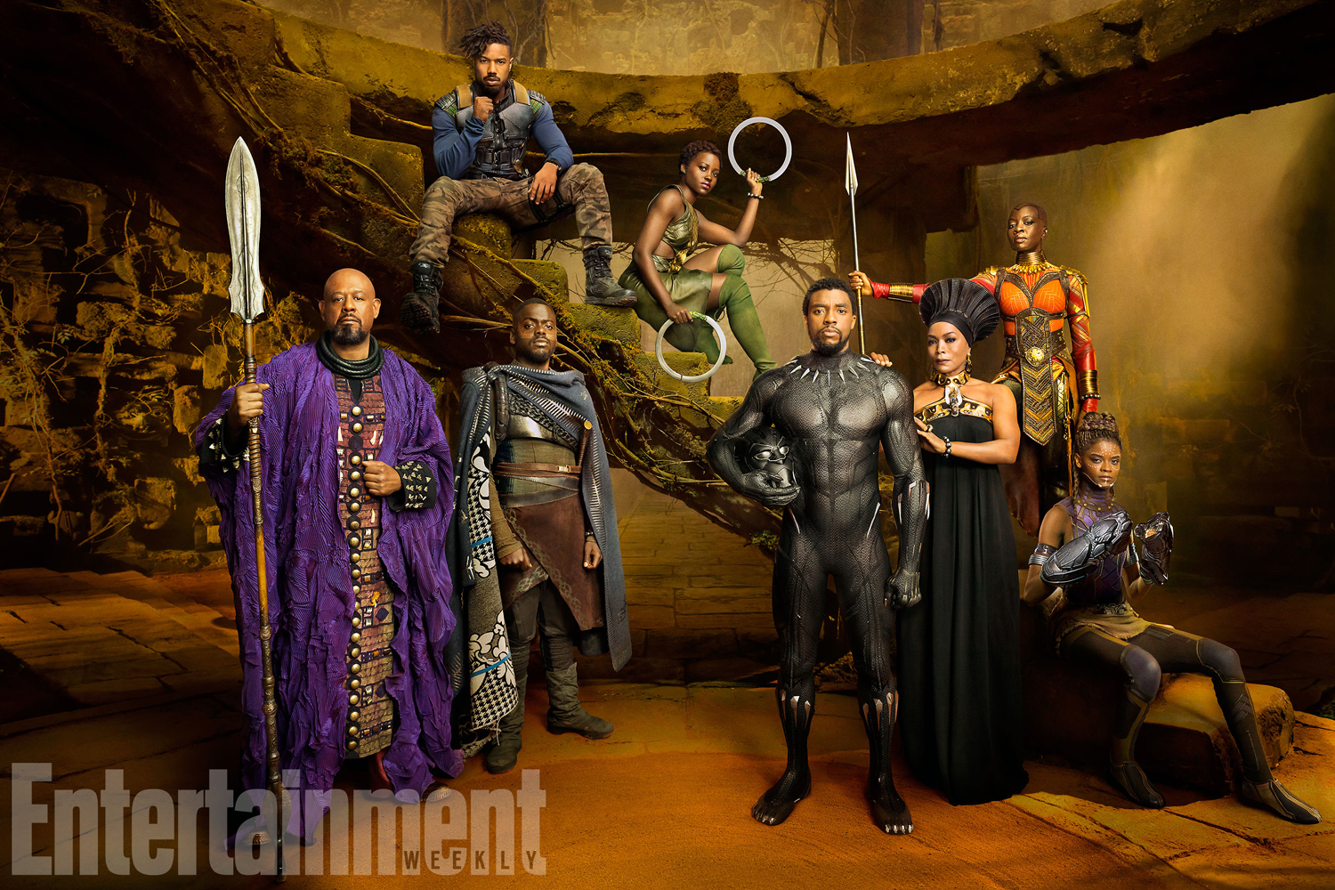 Group-shot of Black Panther's main characters