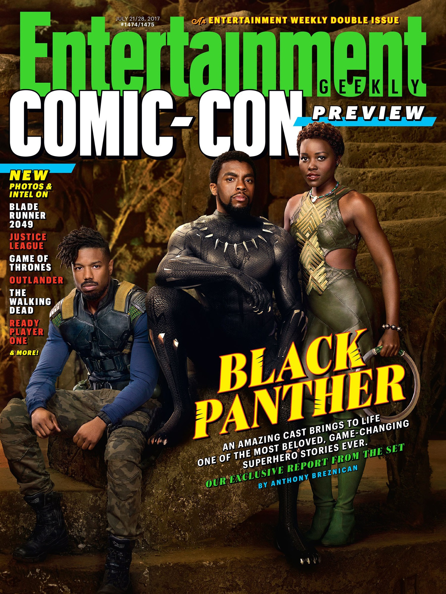 Magazine cover featuring Black Panther characters