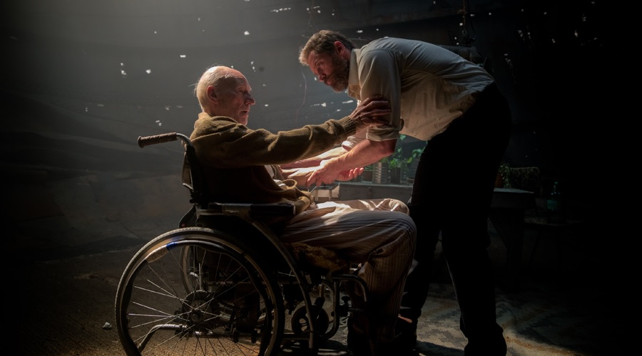 Patrick Stewart and Hugh Jackman in Logan