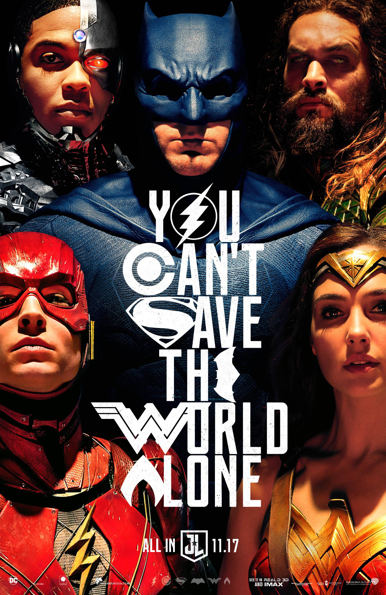 The new official poster for Justice League