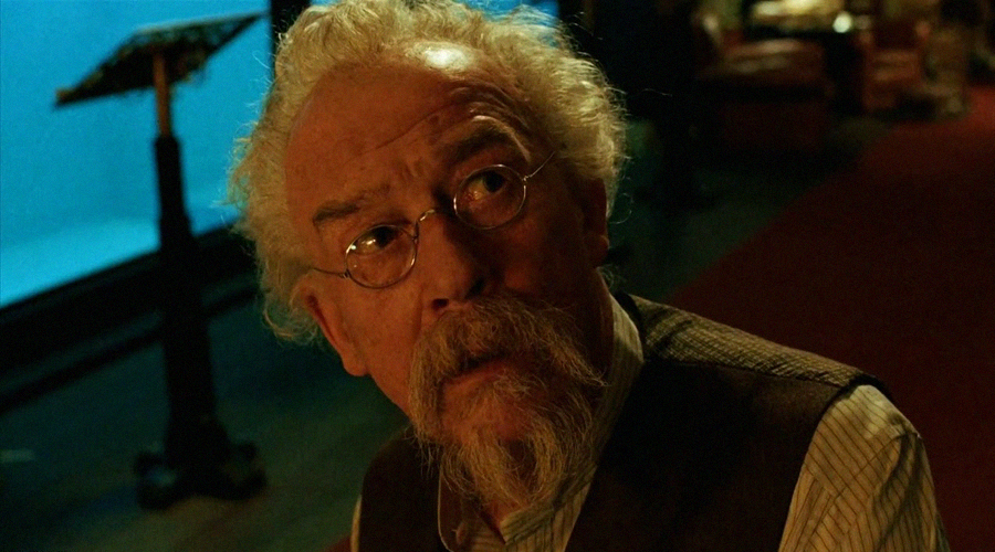 John Hurt portrayed Professor Broom in the previous Hellboy movies