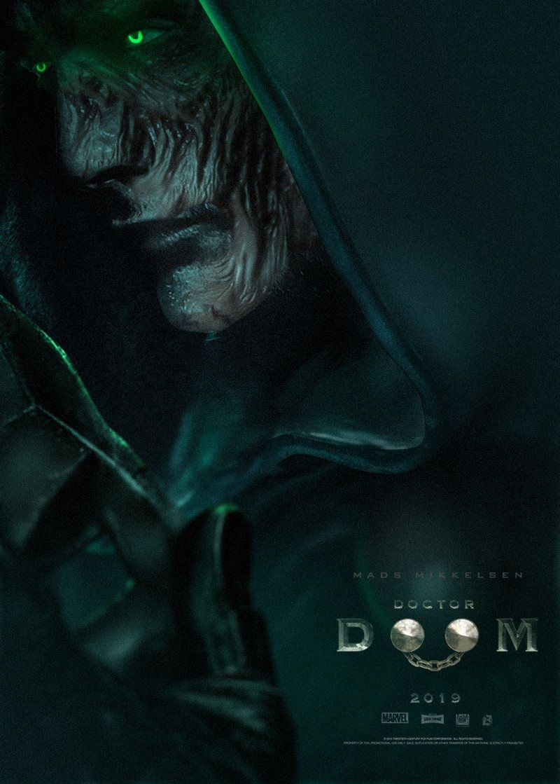 Mads Mikkelsen as Doctor Doom without the mask