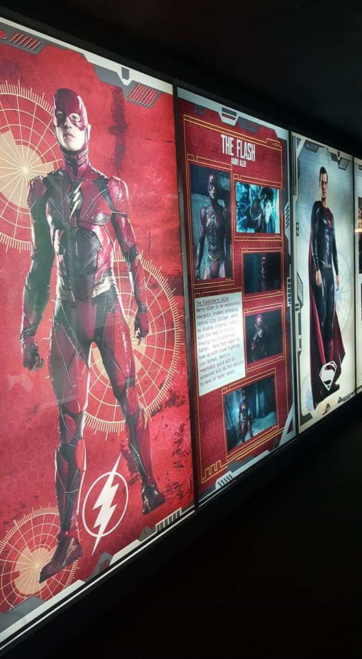 Photo of the gallery at the Justice League event