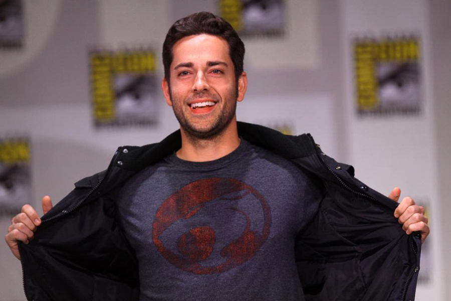 The photo of Zachary Levi shared by the Shazam! director