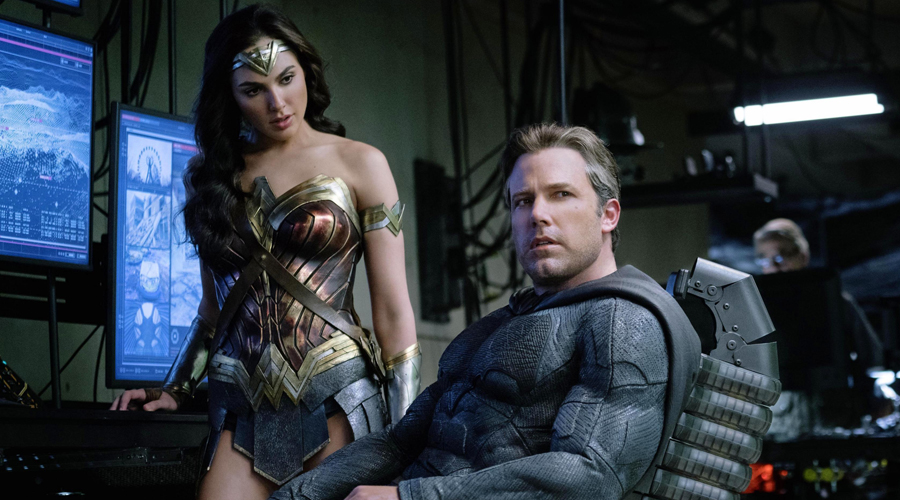 Gal Gadot's Wonder Woman and Ben Affleck's Batman in Justice League