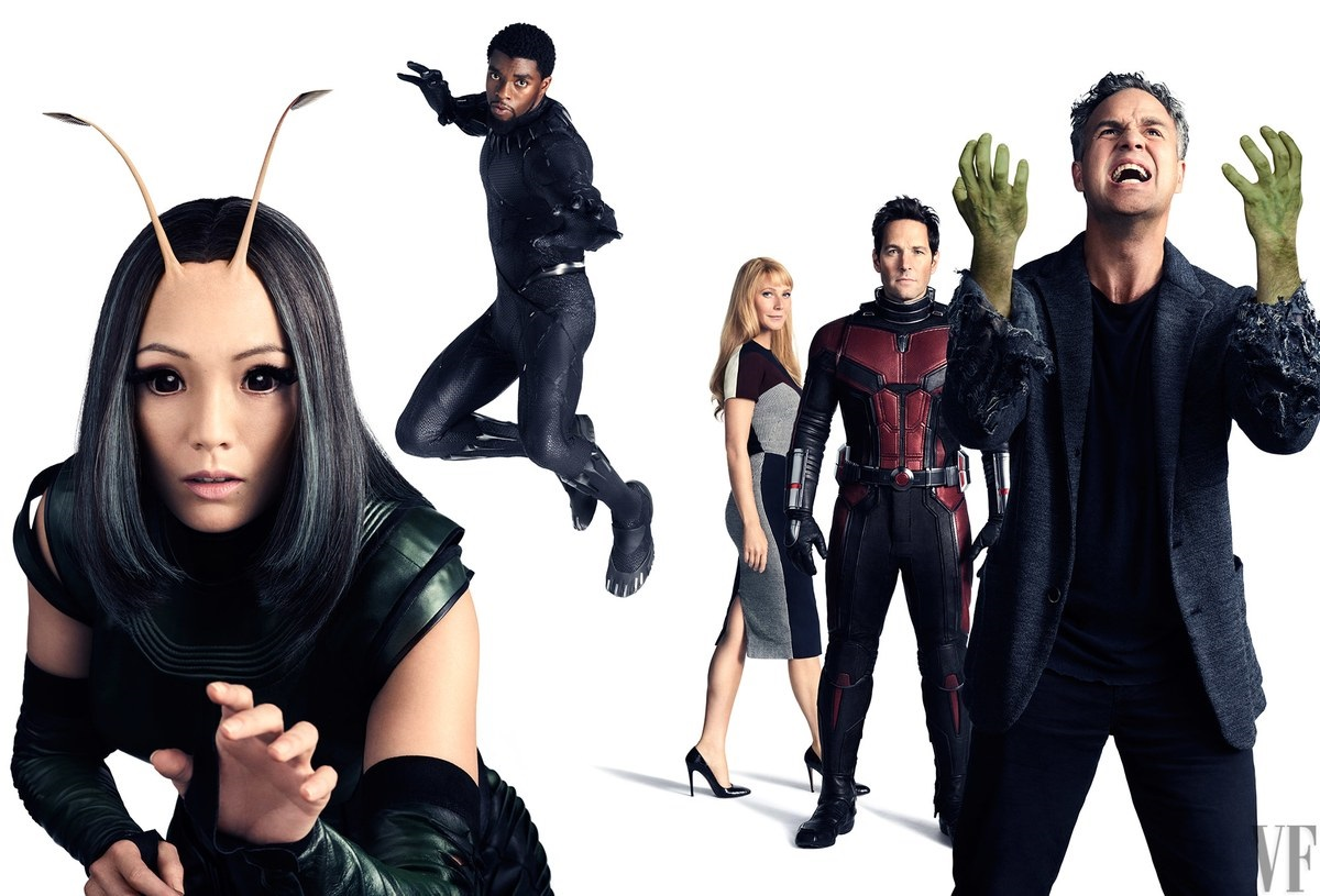 Potrait featuring Mantis, Black Panther, Pepper Potts, Ant-Man and Bruce Banner