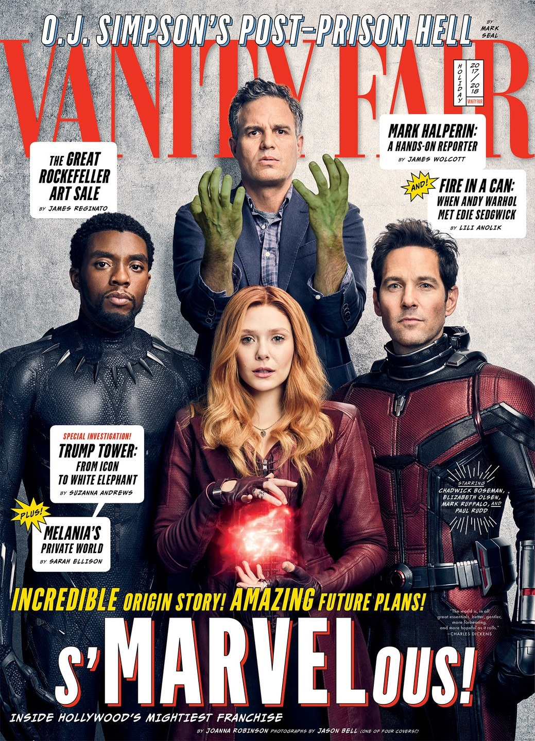 Cover featuring Hulk, Black Panther, Scarlet Witch and Ant-Man